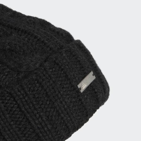 93b79464e9af60 adidas Solid Pompom Beanie - Black   adidas US