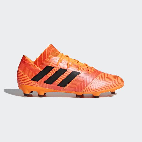ad5277e27f64b Botas de Futebol Nemeziz 18.2 – Piso Firme Zest / Core Black / Solar Red  DA9580