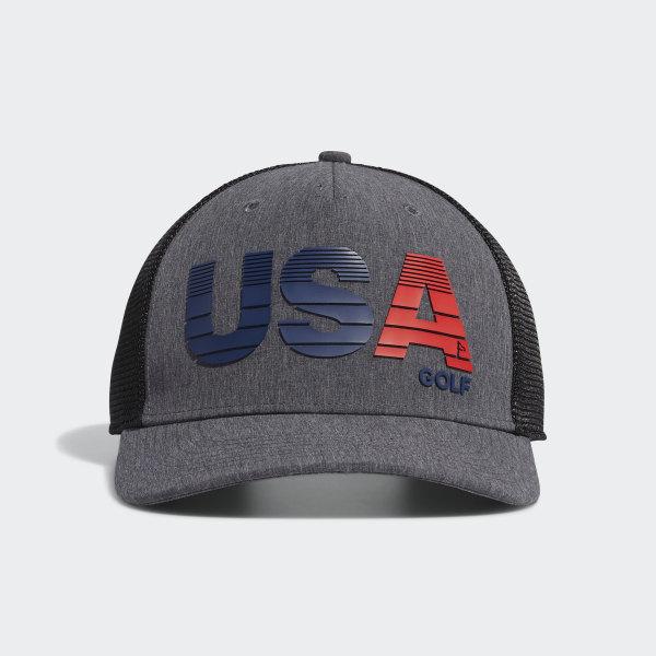 d50ff5523 adidas USA Golf Trucker Cap - Black | adidas US
