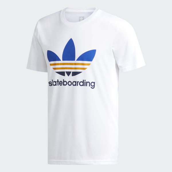 44c29c981 Clima 3.0 Tee White / Collegiate Royal / Tactile Yellow DH3869