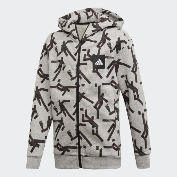 171460283 Veste à capuche Sport ID Graphic - gris adidas | adidas France