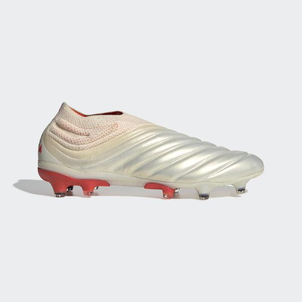 849cb36e4 Calzado de Fútbol Copa 19+ Terreno Firme Off White / Solar Red / Off White