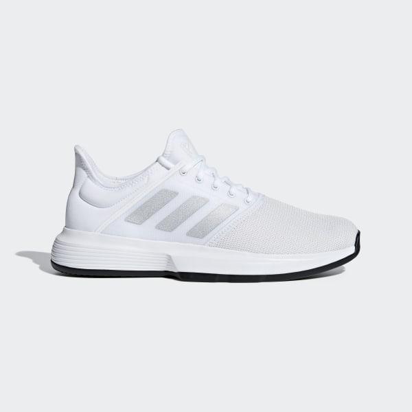 brand new 070fc 9c52a GameCourt Shoes Cloud White   Matte Silver   Core Black CG6333