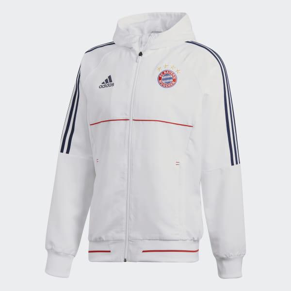 adidas FC Bayern Munchen UCL PRE JKT Jacke für Herren, Farbe Weiß, Größe