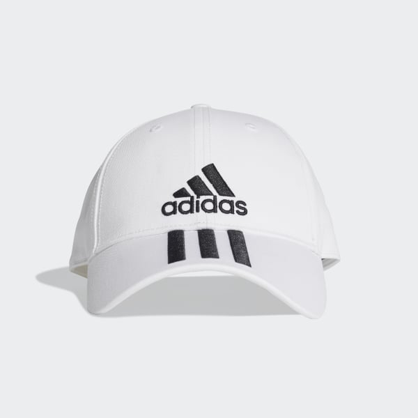 ce0be1d065 adidas Six-Panel Classic 3-Stripes Cap - White | adidas Australia