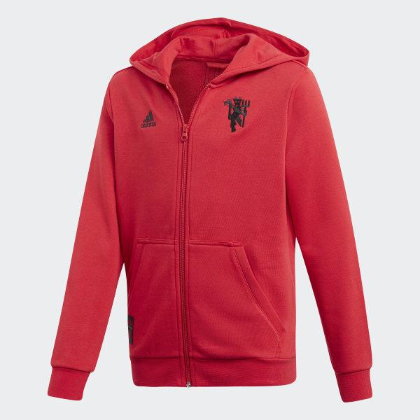 a138da386 adidas Mikina s kapucňou Manchester United - červená   adidas Slovakia