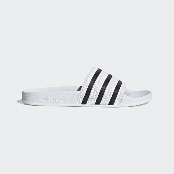 5f8cb23357b9d Adilette Slides White / Core Black / White 280648