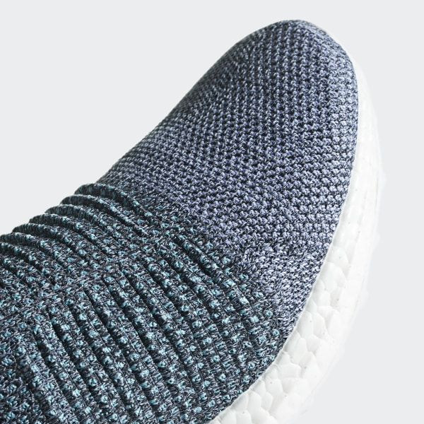 reputable site 9ffda c42ad Ultraboost Laceless Parley Shoes Raw Grey   Carbon   Blue Spirit CM8271