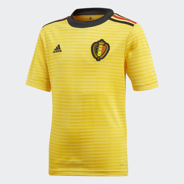 13d581a1 Camiseta segunda equipación Bélgica Yellow / Black / Vivid Red BQ4537