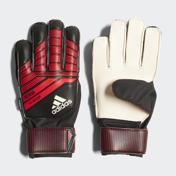 05d9fe6d6 Predator Fingersave Junior Goalkeeper Gloves Black / Red / White CW5598