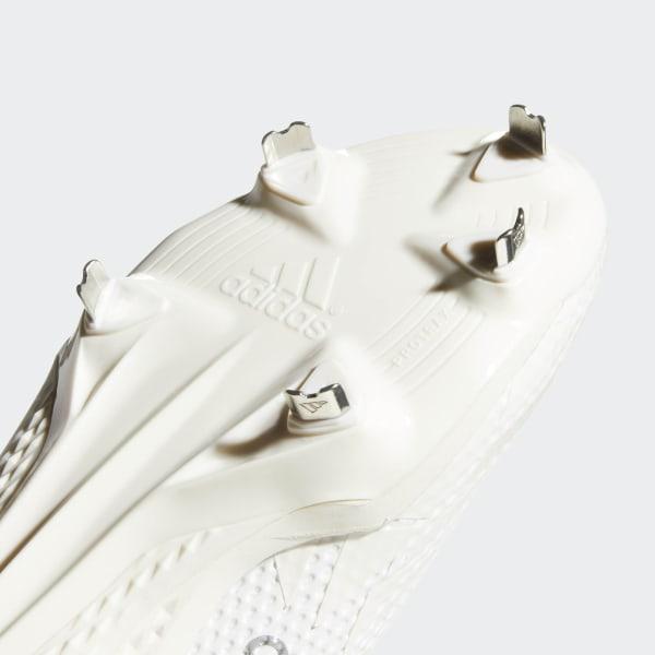 7940e63ccf4 Adizero Afterburner V Cleats Running White   Grey One   Grey CG5224