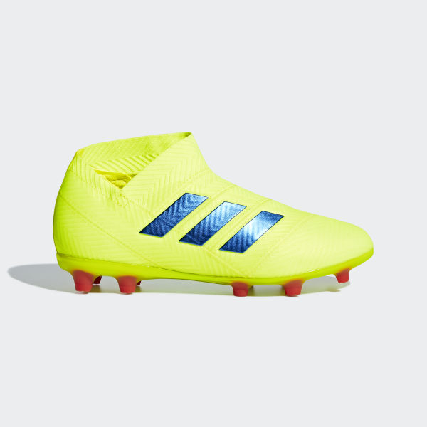 6781b14fee78 Kopačky Nemeziz 18+ Firm Ground Solar Yellow   Football Blue   Active Red  CM8499