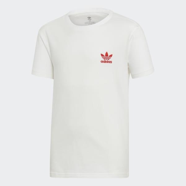 02526a3096 adidas Tričko V-Day Trefoil - biela