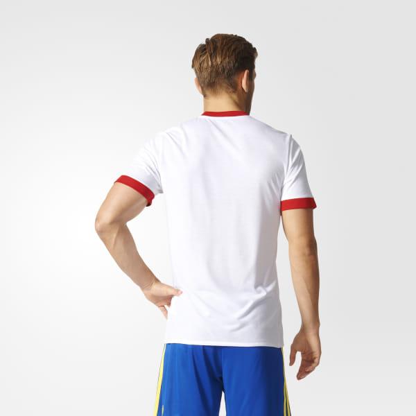 ceb39e2609c Spain Home Pre-Match Jersey White   Scarlet BP9196