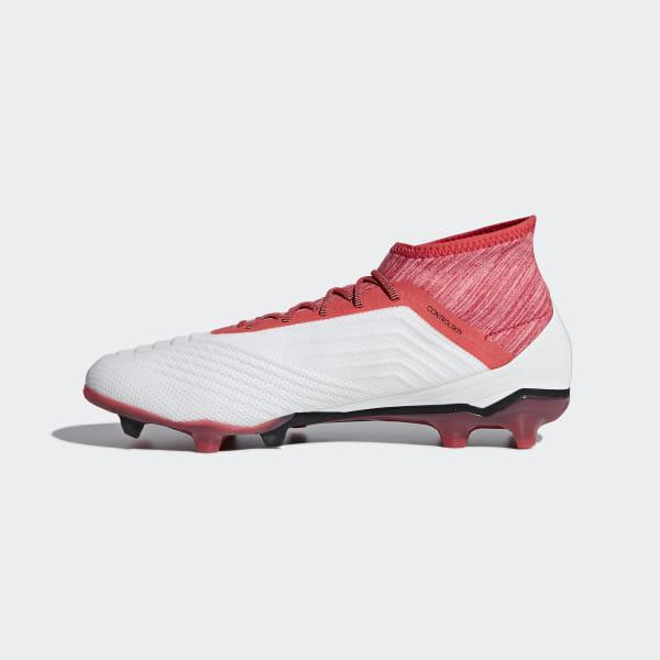 adidas Predator 18.2 FG Weiß Real Coral Schuhe für Herren