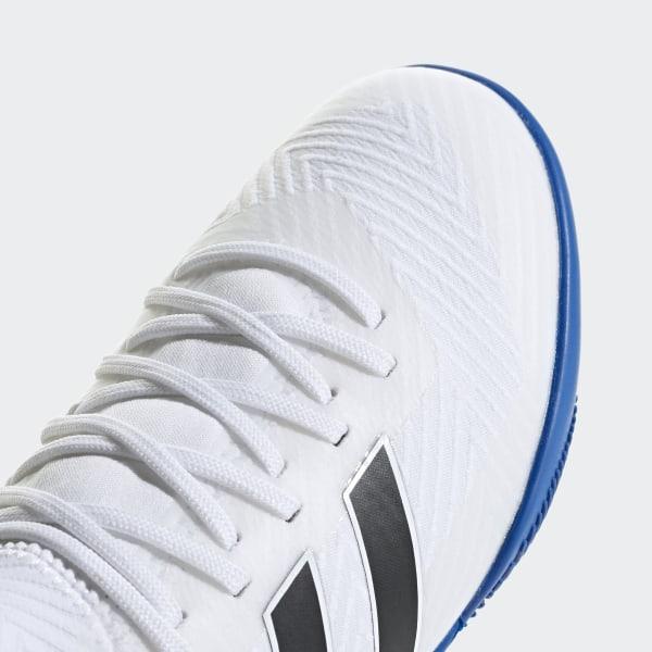 4b3e58347 Nemeziz Messi Tango 18.3 Indoor Shoes Cloud White   Core Black   Football  Blue DB2393