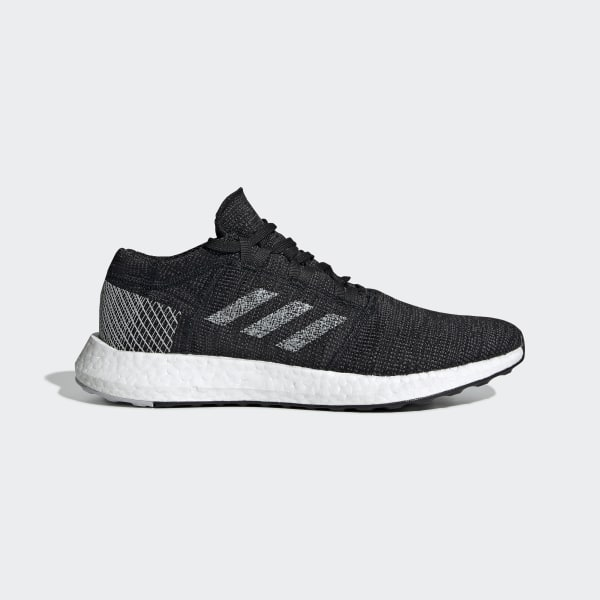 newest 7d496 05f32 Pureboost Go Shoes Core Black   Grey One   Grey B37803