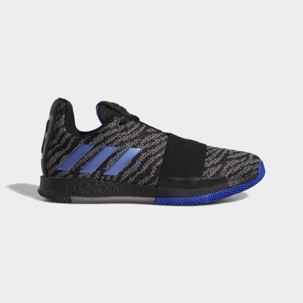 timeless design 82ab2 0583f Harden Vol. 3 Shoes Core Black   Active Blue   Solid Grey G26811