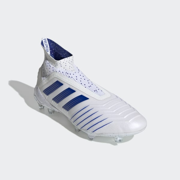 b576a0f678b Predator 19+ Firm Ground Cleats Cloud White   Bold Blue   Bold Blue BC0548