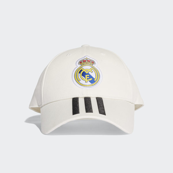 08a60d2e68221 Real Madrid 3-Stripes Hat Core White   Black CY5600