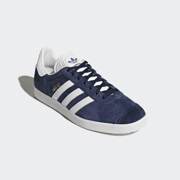 32a255e0215a7 Gazelle Shoes Collegiate Navy   White   Gold Metallic BB5478