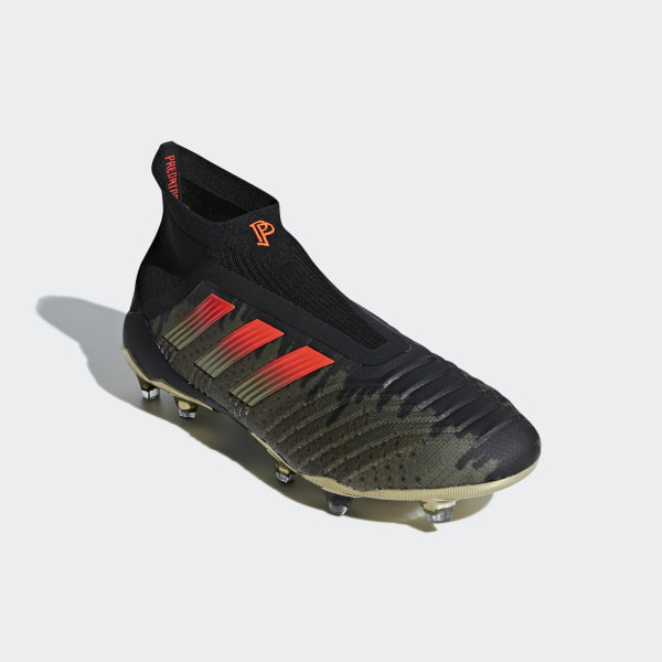c7028aa6d Paul Pogba Predator 18+ Firm Ground Cleats Core Black   Solar Red   Olive  Cargo