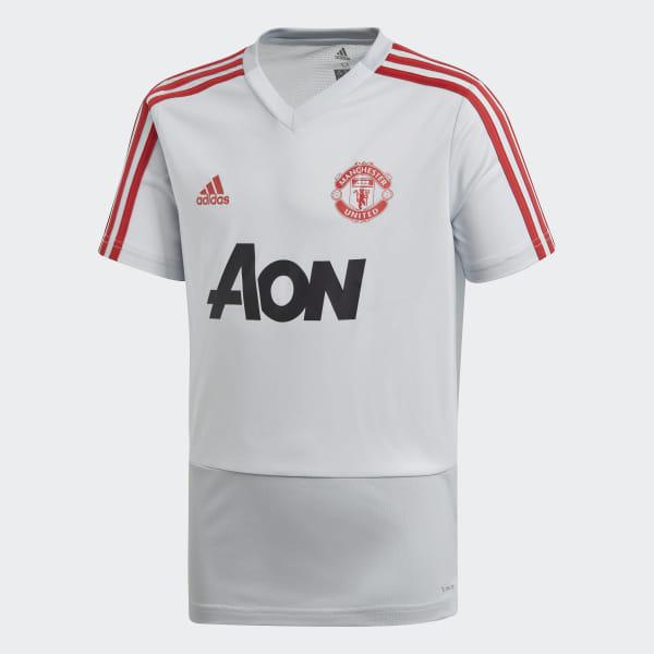 separation shoes 6bae0 d9252 adidas Manchester United Training Jersey - Grey | adidas Ireland