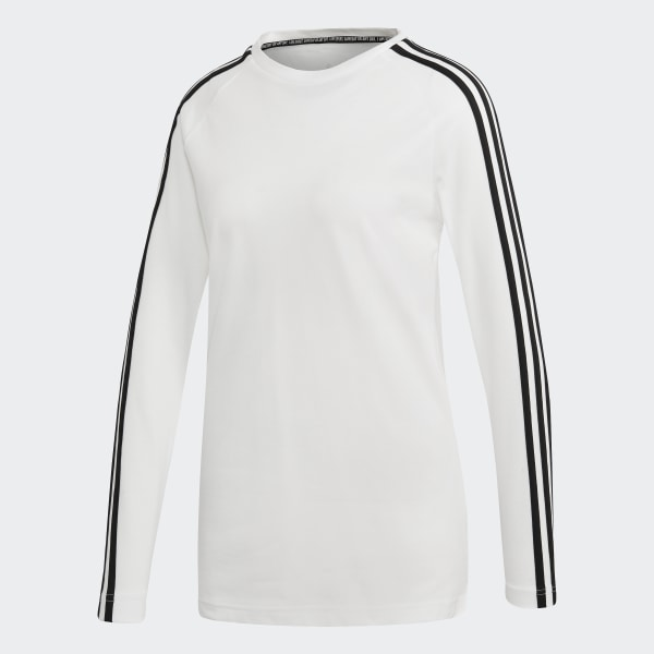 d87f9d76d10d8 adidas Women's Must Haves 3-Stripes Long-Sleeve Tee - White | adidas ...