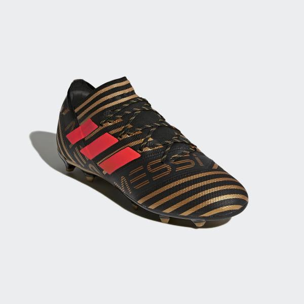 33d3d39c2 Nemeziz Messi 17.2 Firm Ground Boots Core Black   Solar Red   Tactile Gold  Met.