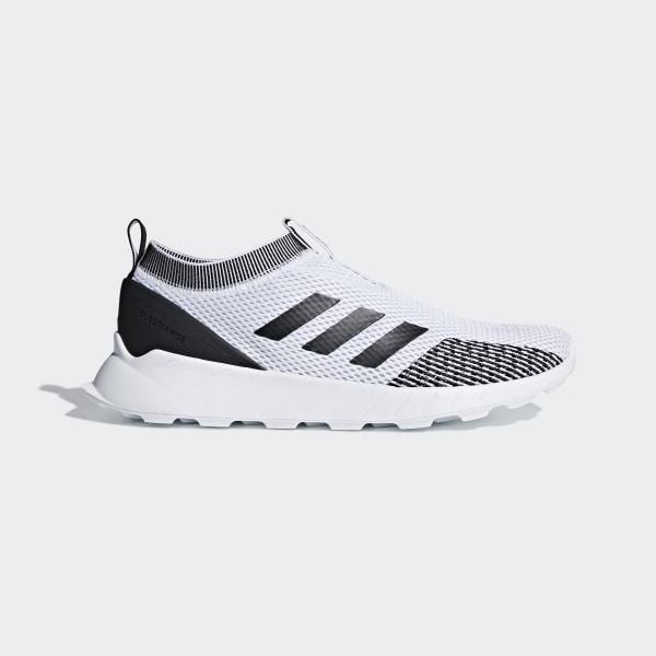 adidas Questar Rise Sock Mens Sneakers, Color: White Black