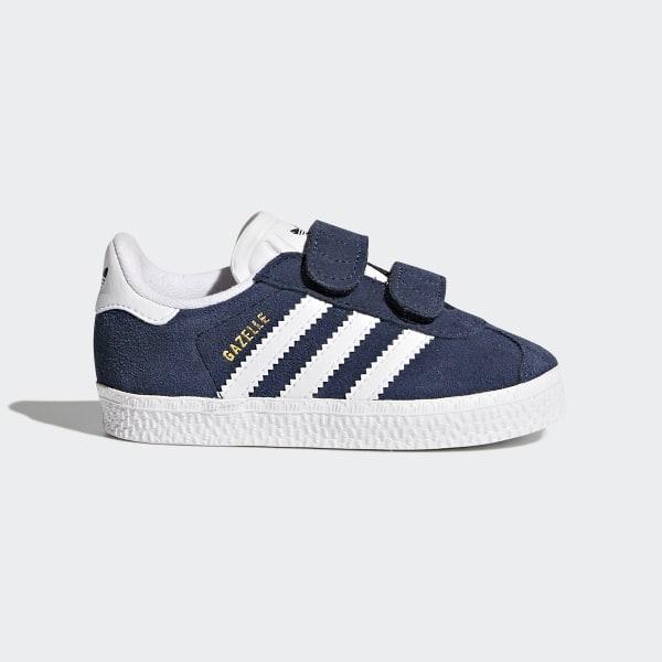 adidas Originals Baby Boys Gazelle Crib Trainers Collegiate NavyFootwear WhiteGold Metallic