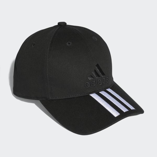 c11ea04335cc1 adidas Six-Panel Classic 3-Stripes Cap - Black | adidas Australia