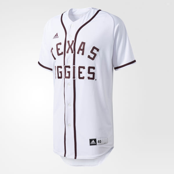 4fd94a7f30e adidas Aggies Authentic Baseball Jersey - White