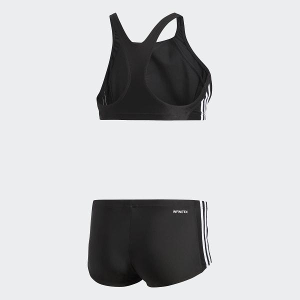 5d9a5b508f4 adidas essence core 3 stripes swim bikini Black / White BP5480