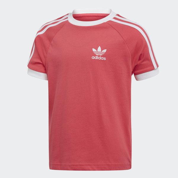 adidas 3 Stripes T shirt Rood | adidas Officiële Shop