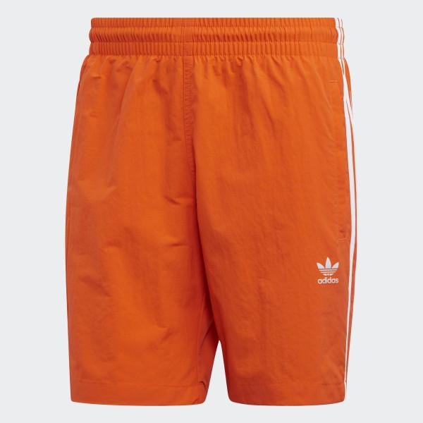 3fa8b2843e adidas 3-Stripes Swim Shorts - Orange | adidas UK