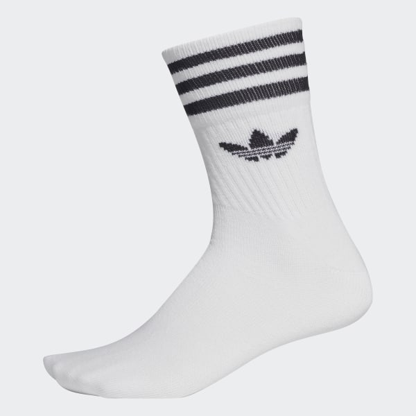 adidas Mid-Cut Crew Socks 3 Pairs - White | adidas US