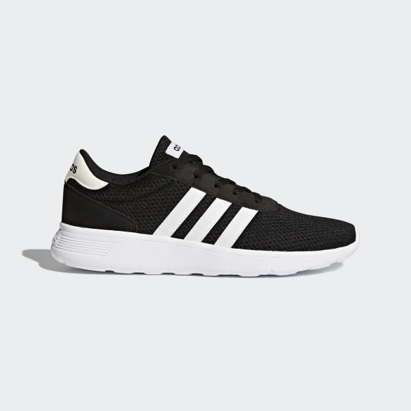 adidas Lite Racer Schuhe Herren schwarz mit weißem Streifen