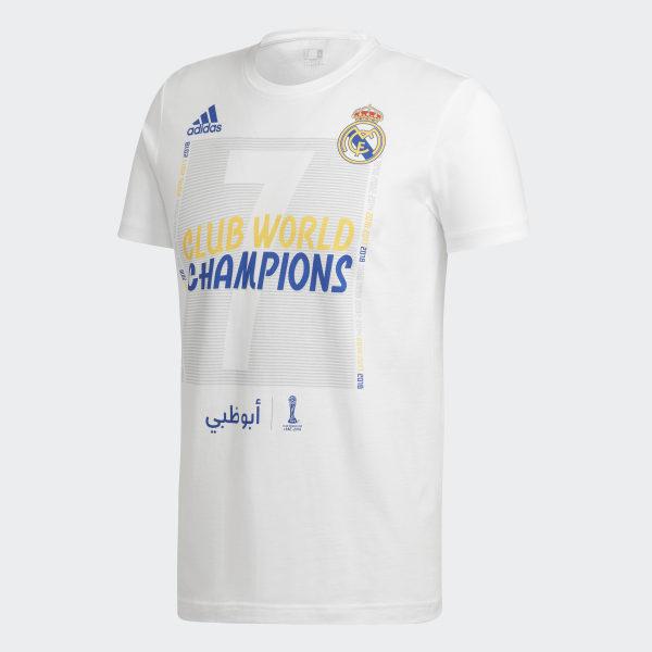 dfd3e7e81ae00 adidas Tričko Real Madrid World Champions - biela | adidas Slovakia