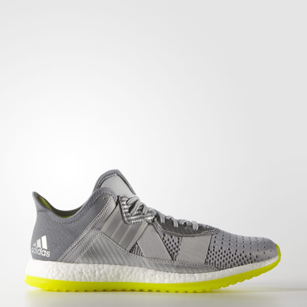 reputable site ccda5 e782e Pure Boost ZG Trainer Shoes Silver Metallic   Cloud White   Semi Solar  Slime AQ2902