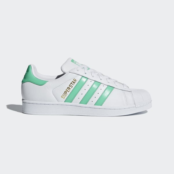 low priced 09fd4 ade9e Superstar Shoes Cloud White   Hi-Res Green   Gold Metallic B41995