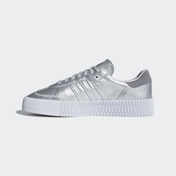 3125e0692504 Samba Rose Shoes Silver Metallic   Silver Metallic   Orchid Tint D96769