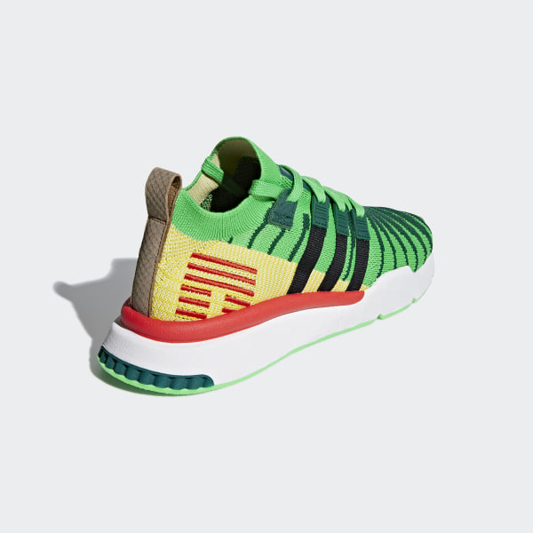 ee2966591 Dragonball Z EQT Support Mid ADV Primeknit Shoes Collegiate Green / Core  Black / Bold Gold