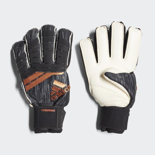 48113118a93e Predator 18 Fingersave Pro Gloves Black / Solar Red / Copper Gold / White  CF1335
