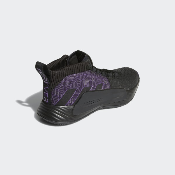 online store b46ac a742a Marvel s Black Panther   Dame 5 Shoes Core Black   Active Purple   Silver  Metallic EF2259
