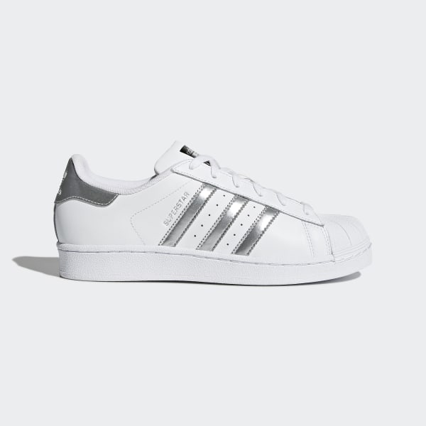 f78b46ada31 Zapatilla Superstar Footwear White / Silver Metallic / Core Black AQ3091