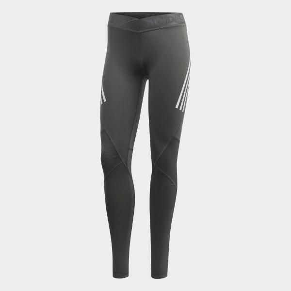87d8f1acc8eab adidas Alphaskin Sport 3-Stripes Long Tights - Grey | adidas Australia