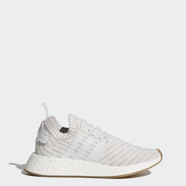 5d3e8d9909 NMD_R2 Primeknit Shoes Cloud White / Cloud White / Shock Pink BY9954