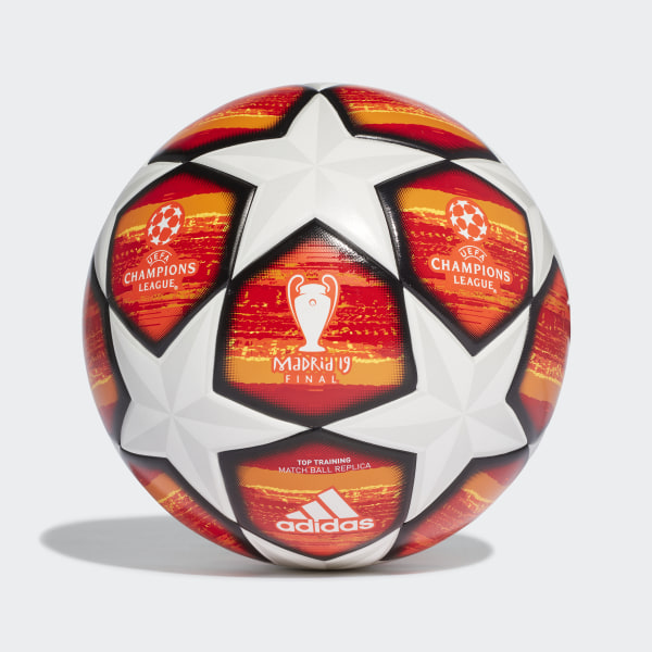 huge discount e819a d1788 UCL Finale Madrid Top Training Ball White   Active Red   Scarlet   Solar  Red DN8676