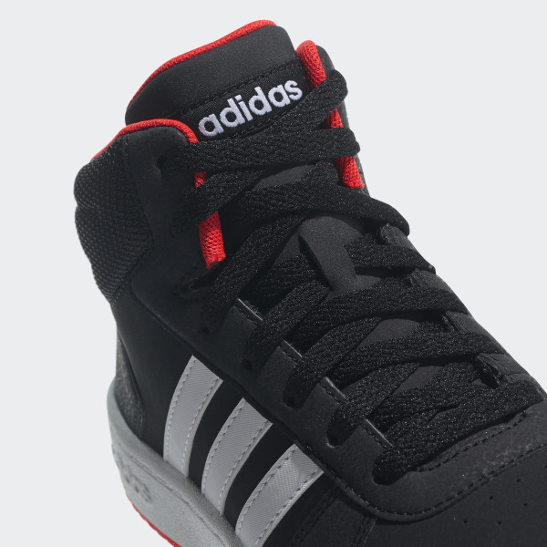 new arrival a39ad 2be70 Hoops 2.0 Mid Shoes Core Black   Cloud White   Hi-Res Red B75743